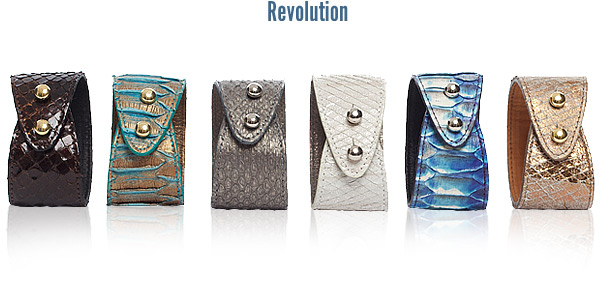 Kaia Peterka Revolution Leather Cuffs